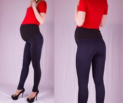 34 Inseam Maternity Pants with Guipure, Long Maternity Leggings for Tall... - $52.00