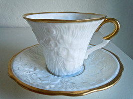 Royal Stafford Old English Oak Gold Cup and Saucer Set - $17.30