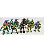 Teenage Mutant Ninja Turtles Action Figure Lot Original Vintage 11 Figur... - $59.39