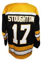 Blaine Stoughton #17 Cincinnati Stingers Retro Hockey Jersey New Black Any Size image 2