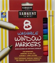 Glass Mirror Window Markers Washable 8 Colors/Pk - $5.93