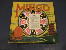 Vintage MINGO Chinese Bingo Game Complete In Original Box By Hasbro 1956 - $19.79