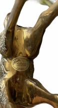 "Vintage 8.5"" Solid Brass Giraffe Mom Baby Calf Kissing  Leonard Silver Mfg Co image 5"