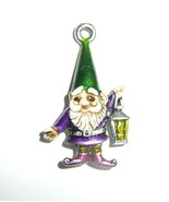 Wonderful Little Hand Painted Gnome Charm For Bracelet or Pendant - Gree... - $15.49