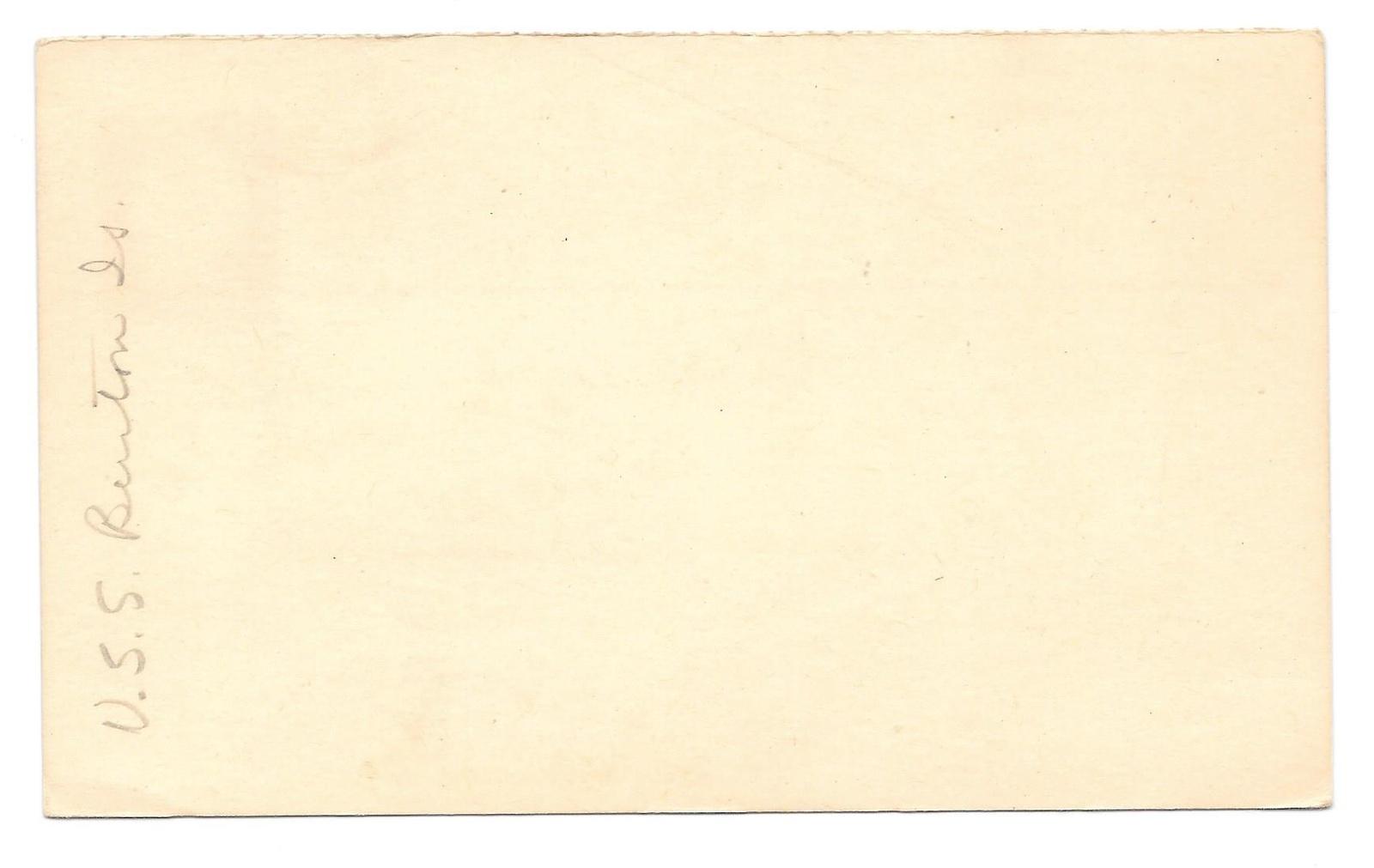 Naval Cancel 1960 USS Burton Island AGB 1 Icebreaker UY16 Reply card uprated