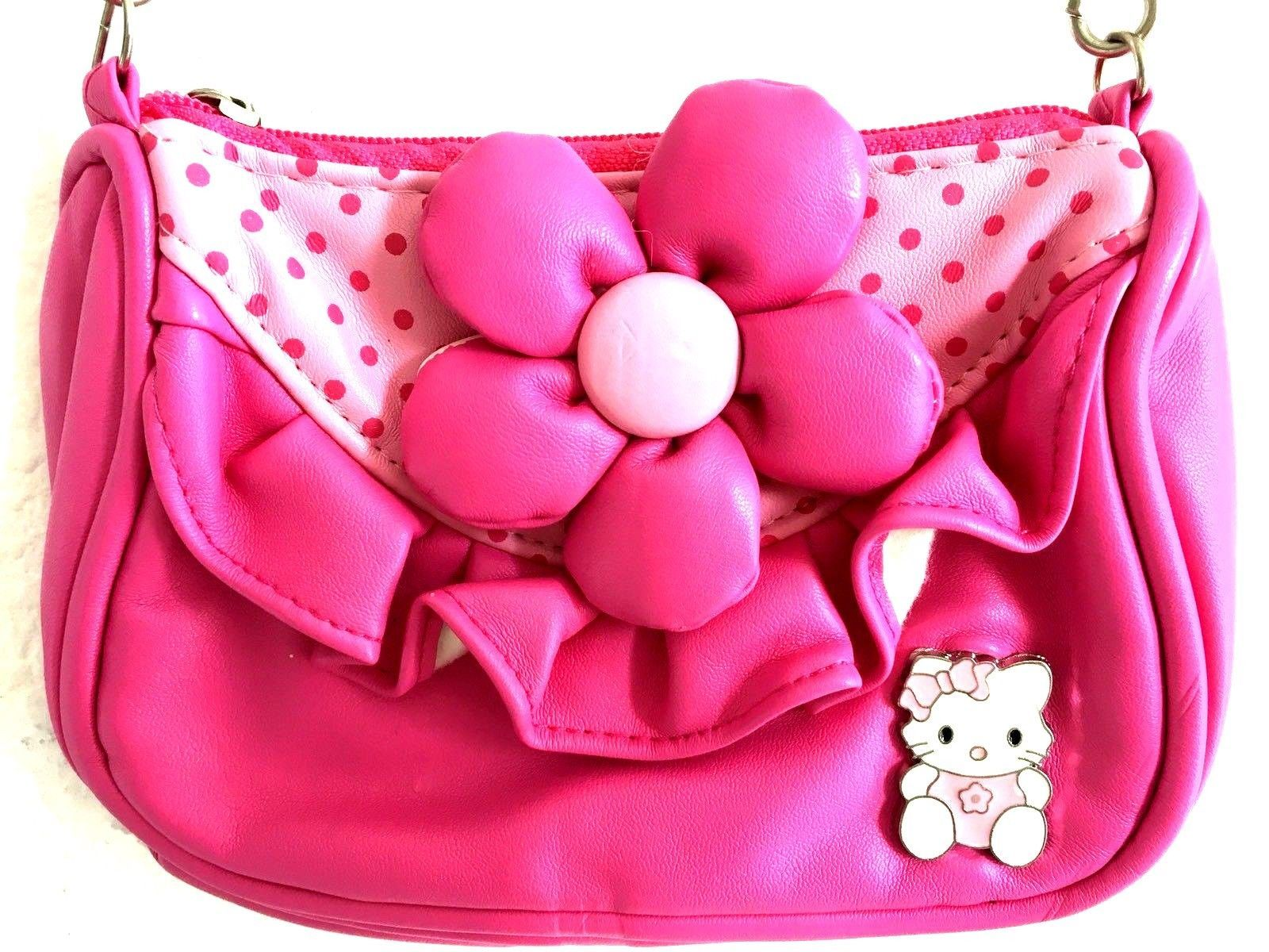 Hello Kitty Girls Pink Purse Flower Pendant And Similar Items