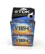 TDK VHS-C VHSC HG Ultimate Camcorder Video Cassette Tapes Pack of 4 SEALED - £11.51 GBP