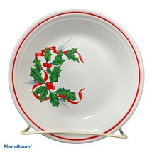 """Fiesta Salad Plate 7.25"""" Christmas Holiday Holly & Ribbon Contemporary HLC - $19.99"""
