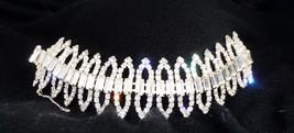 Take My Breath Away Signed Kramer New York Stunning Clear Rhinestone Bracelet - $95.44