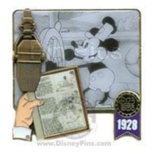 Disney Pin 72480 D23 Expo 2009 Artist Choice 1928 Mickey Steamboat Willie LE # - $56.38