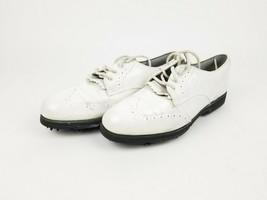 FOOT-JOY Ladies Soft-Joys White Leather Golf Shoe Size 7.5- 98355 - Free Ship - $40.06