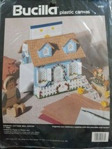 NEW Vintage 1991 Bucilla Country Cottage Mail Center Plastic Canvas Kit #6078 - $27.71