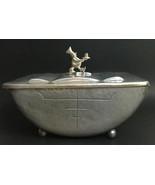 Vintage Cellini Craft Argental Aluminum Handwrought  Bakerman Dish Conta... - $121.25