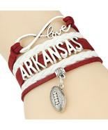 Infinity Love Arkansas Razorbacks bracelet Sports Team football charm br... - $17.45