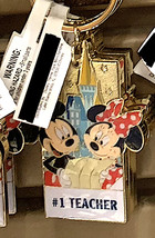 Disney Parks Mickey Minnie Mouse Character Metal Keychain #1 Teacher NEW - $21.90
