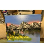 "Original Acrylic Canvas Painting Signed ""MOUNTAINSCAPE"" 20 x 16 FREE SHI... - $48.38"