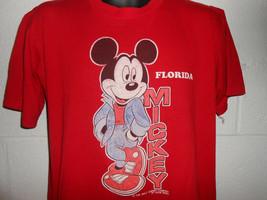 Vintage 80s Mickey Mouse Walt Disney World Florida T-Shirt Large - $14.99