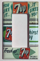 Old 7Up Soda Poster Light Switch Power Outlet Wall Cover Plate Home decor image 3