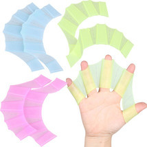 Hand Swimming Fins Flippers Swim Palm Finger Webbed Silicone Gloves Padd... - $7.26