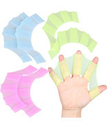 Hand Swimming Fins Flippers Swim Palm Finger Webbed Silicone Gloves Padd... - $9.72 CAD