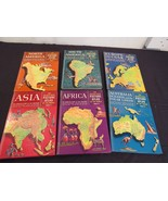 Vintage 1960 The Golden Book Picture Atlas of the World, Complete 6-Volu... - $47.63