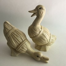 Vintage Ceramic Ducks Figurine Country Farmhouse Geese Cottage Mid Centu... - $14.60