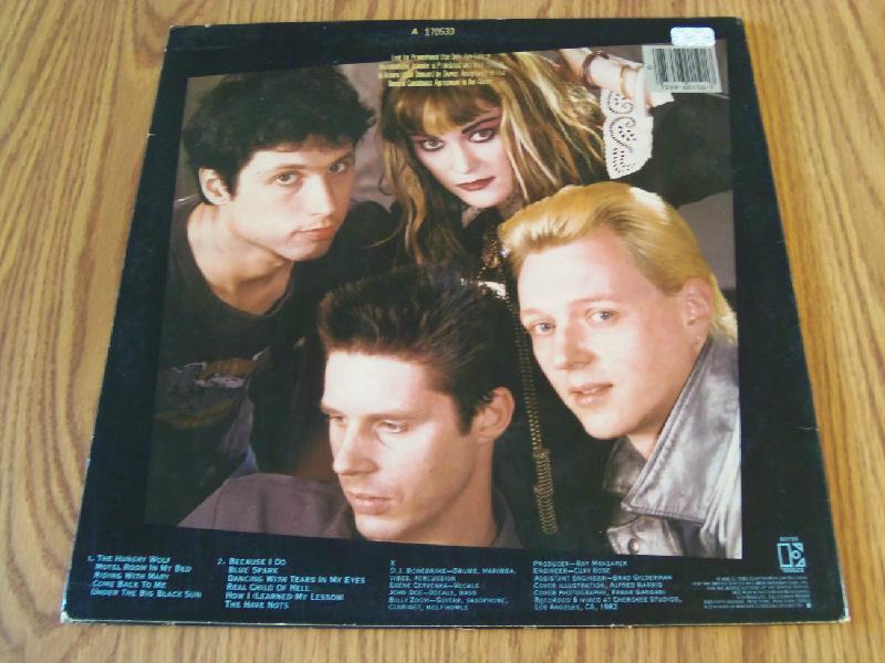 X Under The Big Black Sun 1982 WLP Elektra The Doors John Doe Exene Billy Zoom