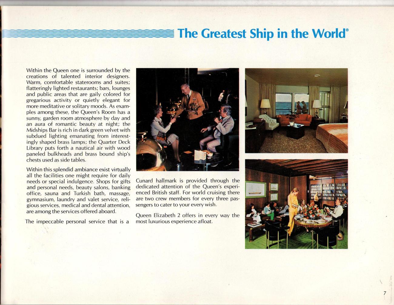 Queen Elizabeth 2 World Cruise 1977