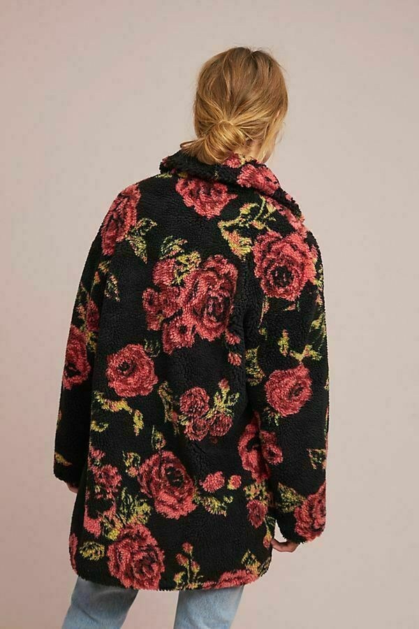 Anthropologie Winter Roses Coat by If By Sea Sz XL - NWT image 3