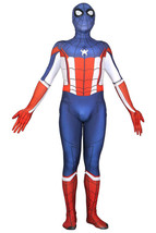 Captain America Spider-Man Jumpsuit Cosplay Costume Bodysuit Outfit - $48.63