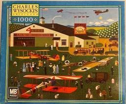 Charles Wysocki 1000 Piece Jigsaw Puzzle Game Four Aces Flying School - $19.79