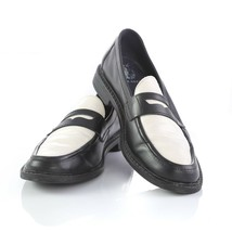 Cole Haan Pinch Maine Classics Penny Loafers Black White Leather Womens 8.5 - $29.52