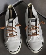 SPERRY TOP SIDER - Pier View White Slip-On Canvas Women's Sneaker Shoes ... - $29.65