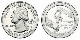 2015 Saratoga Clad and SILVER Proof ATB Quarters 2 Coins incl CP10213 - $11.95