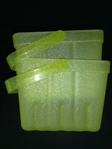 (X2) Spritz Lime Green Sparkly Berry Basket W/Handle LOT OF 2 BASKETS- NEW! image 3