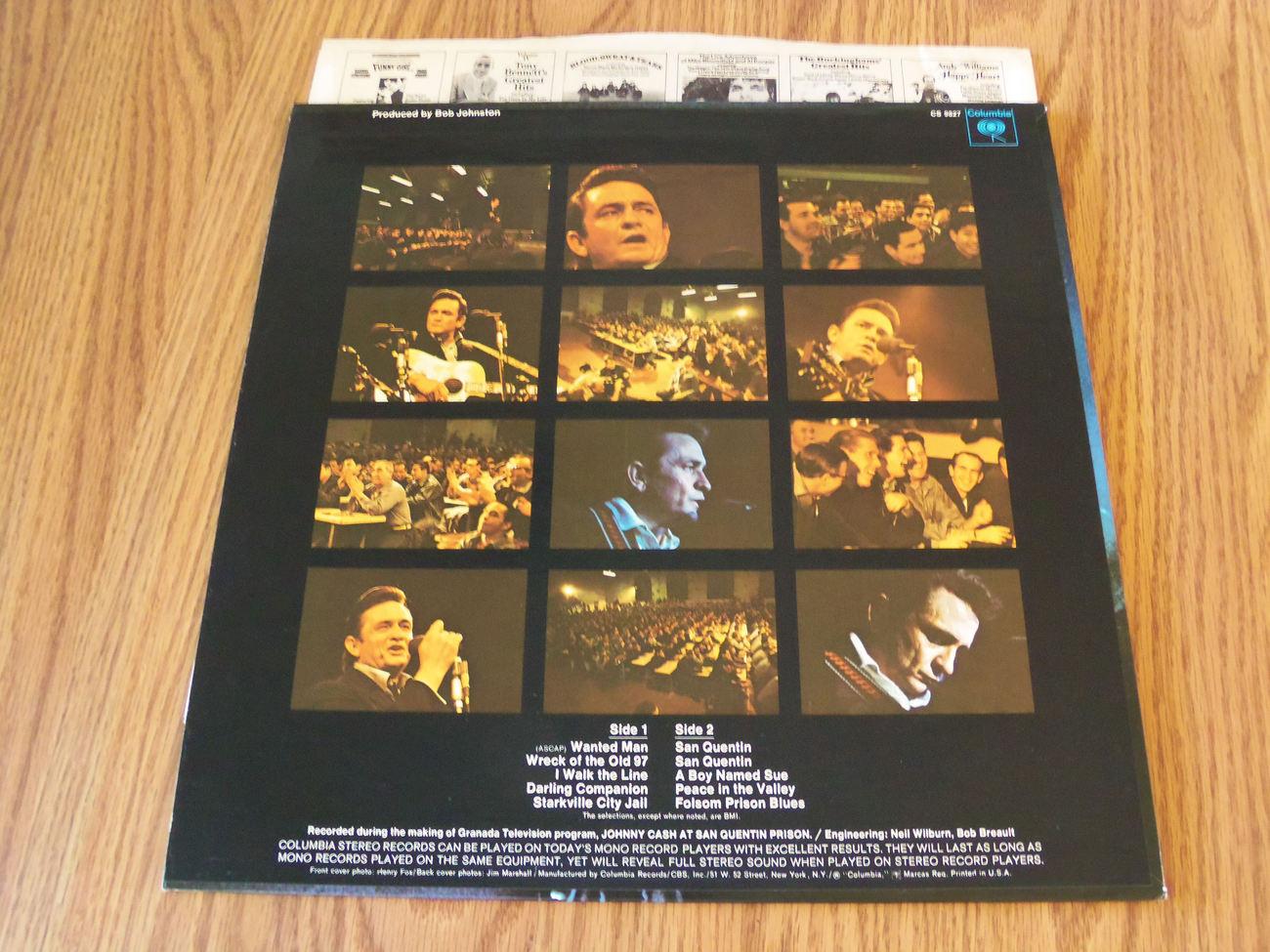 Johnny Cash At San Quentin 1969 1B 1B Lp Columbia 360 Sound