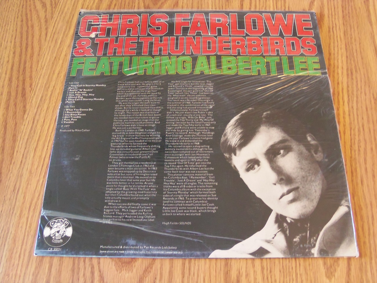 Chris Farlowe & The Thunderbirds Featuring Albert Lee SS 1977 Charly Records