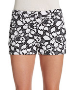 NWT DIANE von FURSTENBERG 12 $245 lace shorts black white embroidered na... - $96.99
