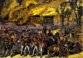 "WAR of 1812, ""BRITISH CAPTURE & BURN WASHINGTON"" 13 x 10  GICLEE CANVAS... - $19.95"
