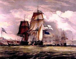 WAR of 1812,  HMS SHANNON CAPTURES USS CHESAPEAKE 13 x 10  GICLEE CANVA... - $19.95
