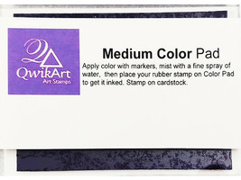 QwikArt Art Stamps Medium Color Pad, Use with Unmounted Rubber Stamps