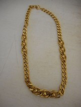 Vintage Estate TRIFARI chain Gold necklace with gold bead accents - $32.66