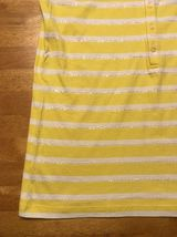 NWT Ralph Lauren Girl's Yellow & White Striped Sleeveless Shirt - Large 12/14 image 6
