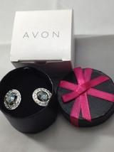 Avon Born Beautiful 2-IN-1 Birthstone Earrings Blue Aquamarine Color Mar... - $9.49