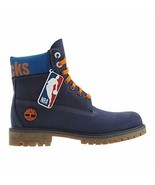 "Timberland New York Knicks 6"" Premium Waterproof Boot Dark Blue Nubuck - $199.99"