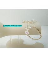 Jewelry By Two Gems (B9) Sterling Silver Arm Band w GF beads - $51.00