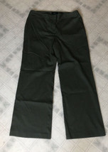 TALBOTS Olive Army Green Flat Front Front Zip Pants Size 16 - $34.34