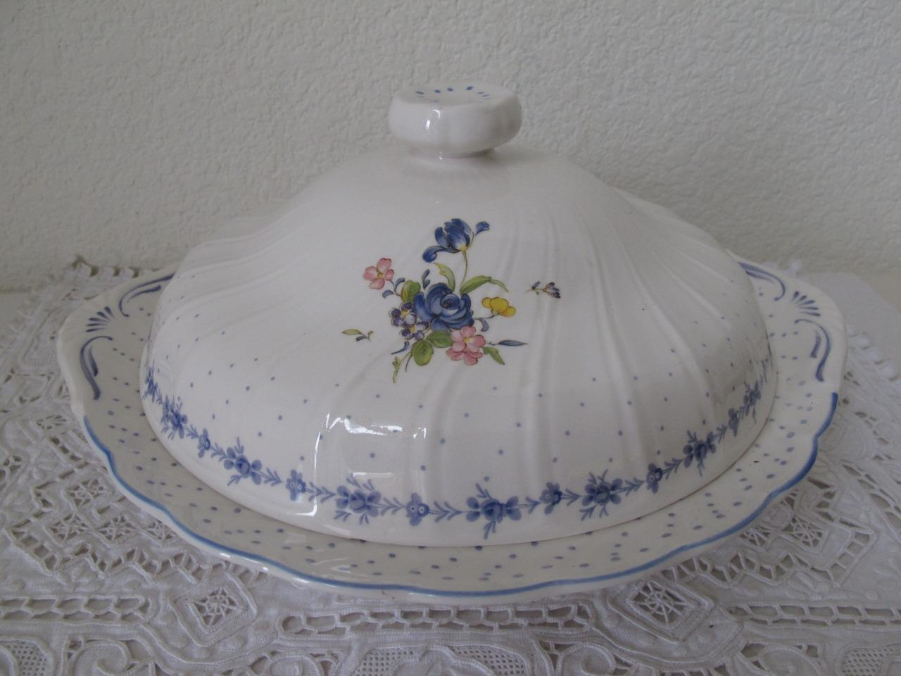 Nikko Blue Peony Round Covered Vegetable Serving Dish Bowl Japan 11 1/4  & Nikko Blue Peony Round Covered Vegetable and 13 similar items