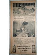 Johnson's Baby Oil & Powder Mother & Baby 1940s Magazine Print Advertise... - $5.99