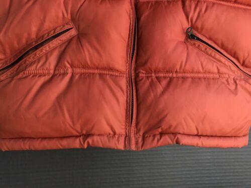 Gap Kids Puffer Vest Boys Size XXL (14-16) Rust Orange & Forest Green Full Zip